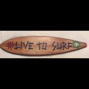 Love To Surf Wooden Wall Plaque